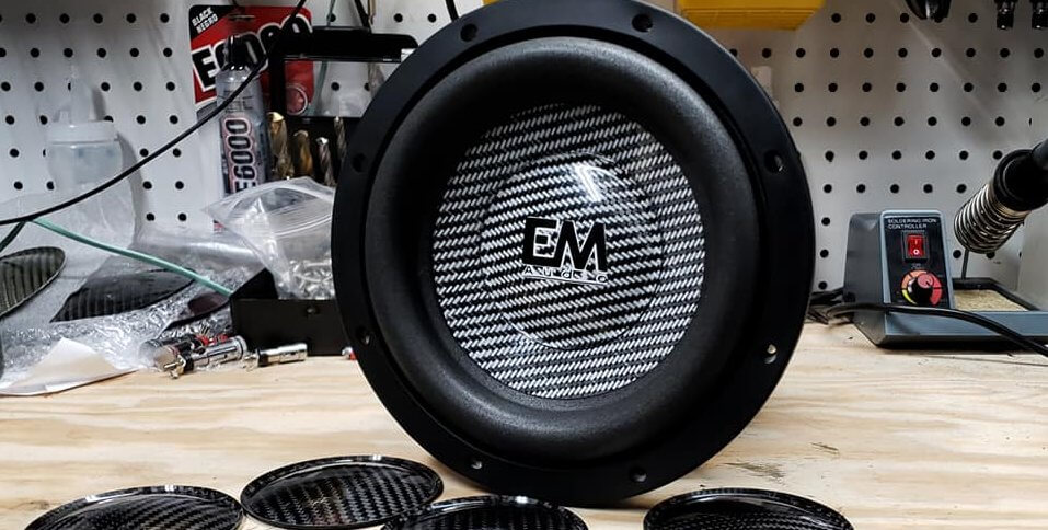 Baddest Ferrite Motor Full Carbon Fiber Cone/Dust Cap 8″ Subwoofers Out!