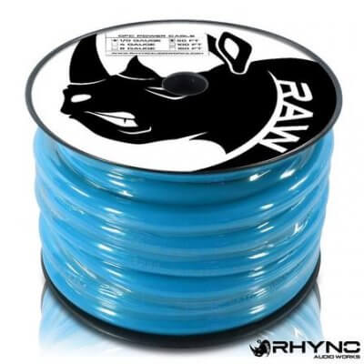 RHYNO 1/0 Gauge Twisted OFC Power Cable [50 ft]